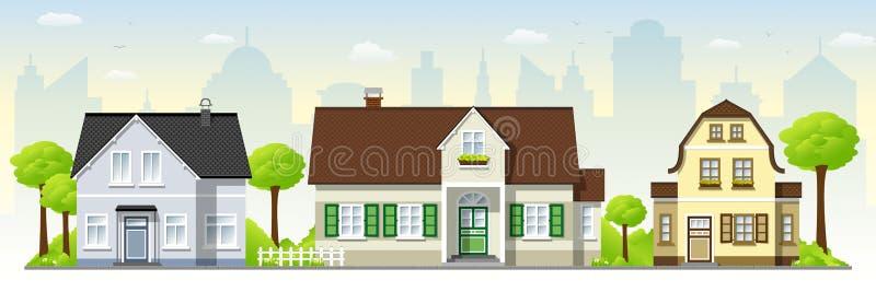 Belle vecchie case royalty illustrazione gratis
