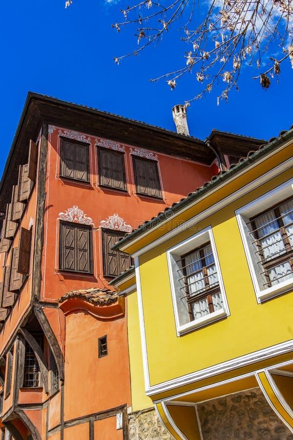 Belle vecchie case, dettaglio architettonico fotografie stock
