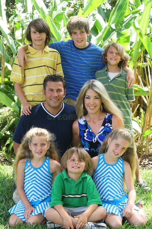 belle verticale de famille image stock