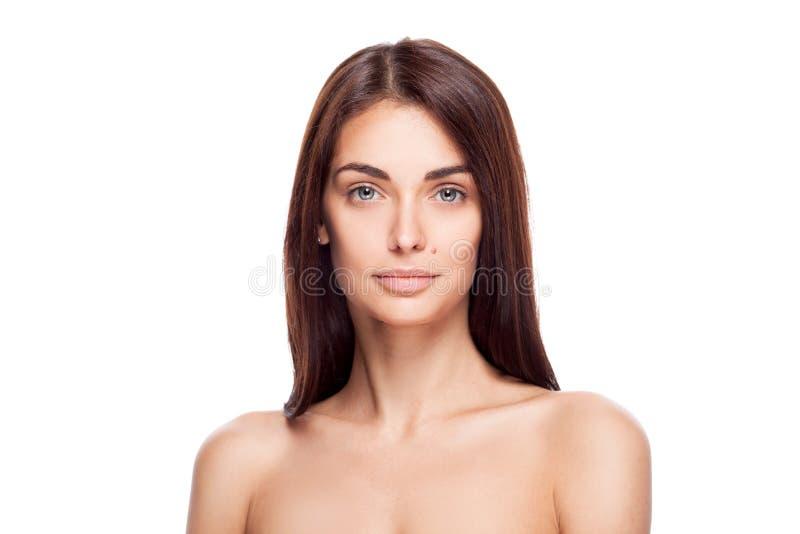 Belle verticale de femme de brunette image stock