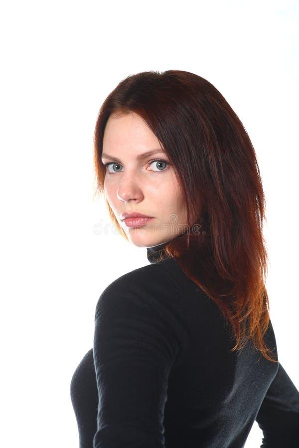 Belle verticale rousse de fille photos libres de droits