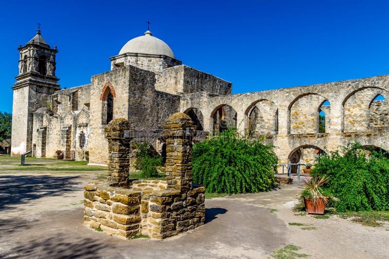 Belle vieille mission espagnole du Texas, San Jose. photo libre de droits