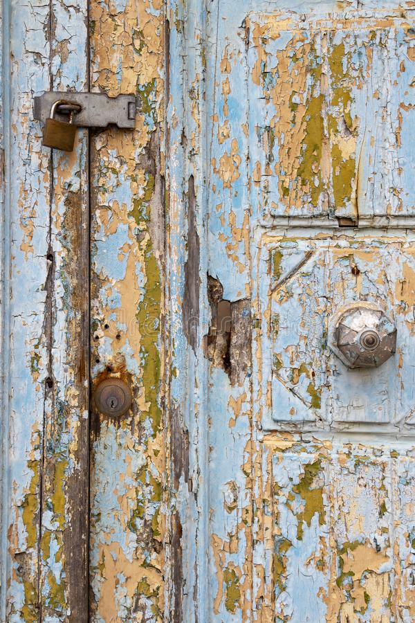 Belle vieille porte à Rabat, Malte, détail photographie stock
