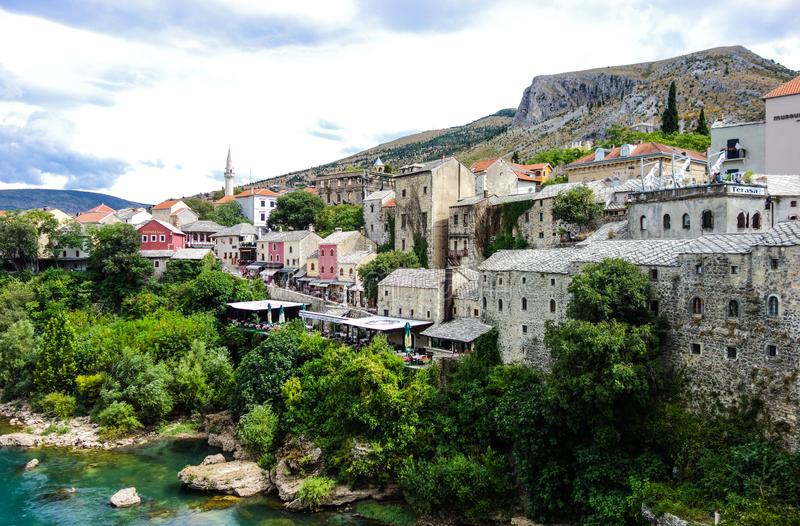 Belle vieille ville Mostar photographie stock libre de droits