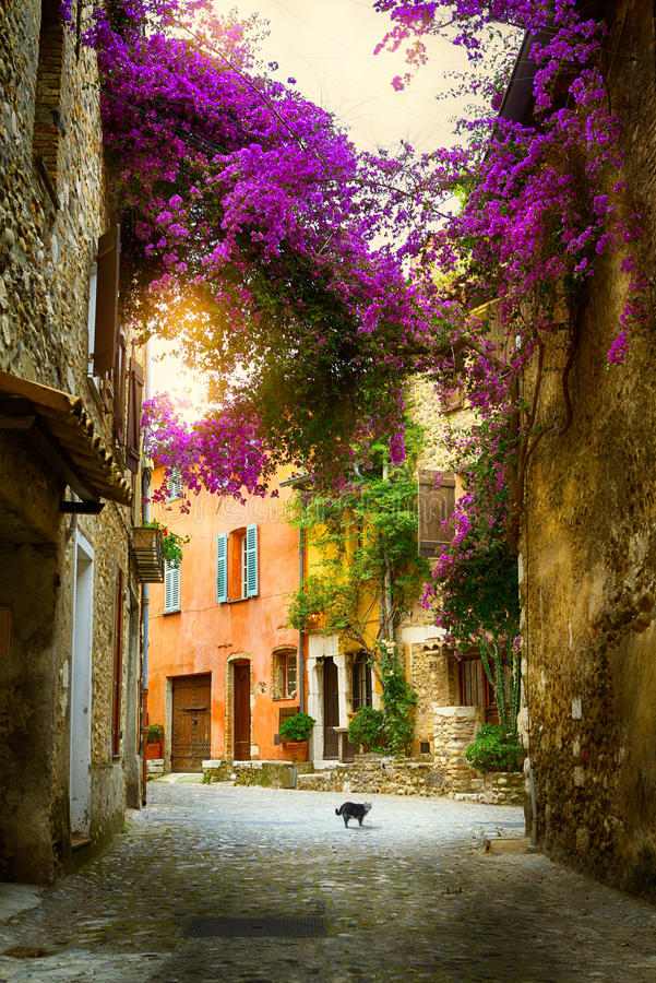 Belle vieille ville Provence d'art photographie stock