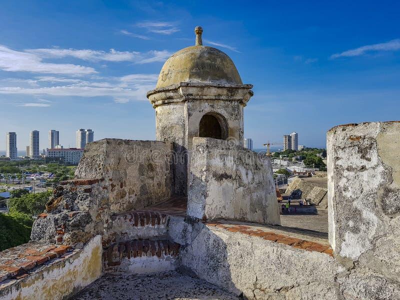 Belle VILLE colombienne Carthagène image libre de droits