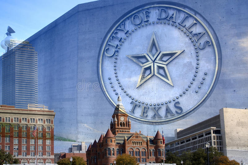 Belle ville de Dallas Texas images libres de droits