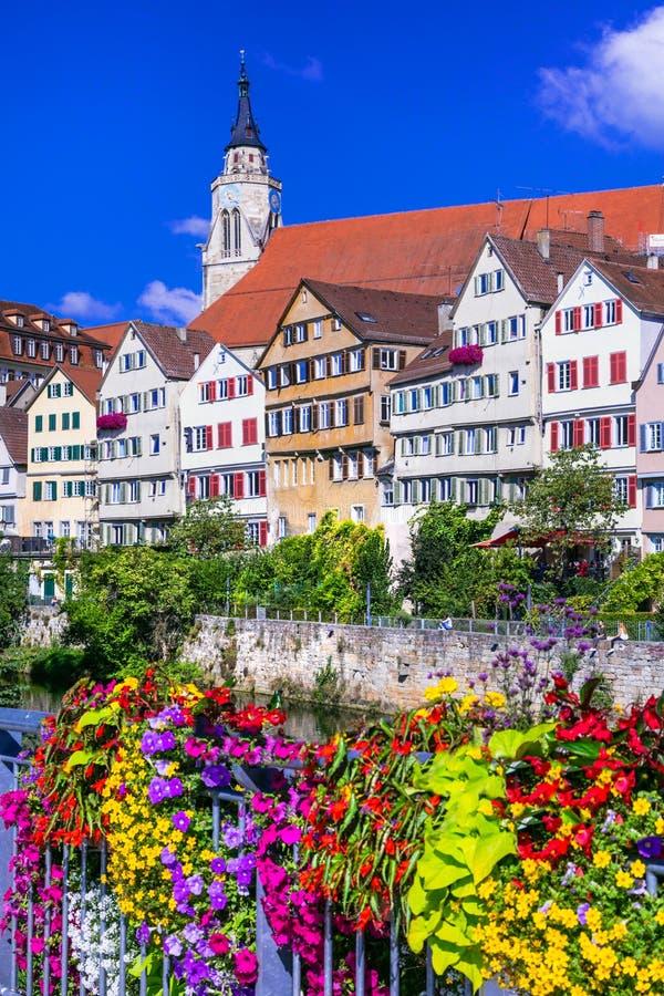 Belle ville florale Tübinga - Allemagne et x28 ; Baden-Wurttemberg& x29 ; photos libres de droits