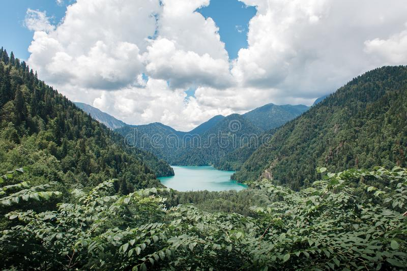 Belle viste di Abhazia fotografia stock