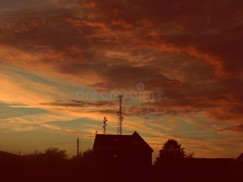 Belle viste di tramonto fotografia stock