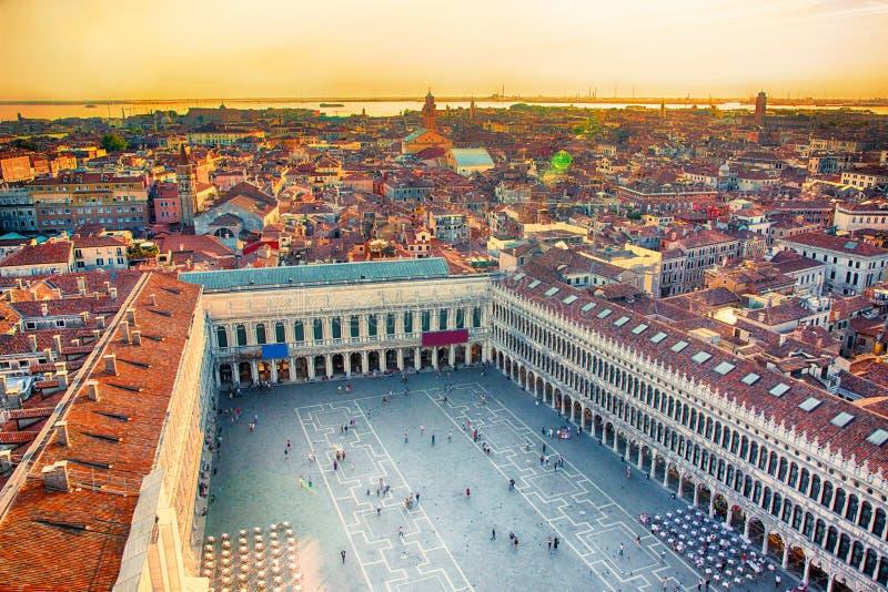 Belle vue aérienne panoramique de Venise images libres de droits