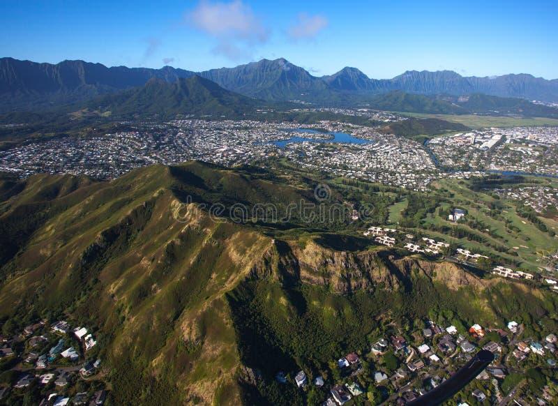 Belle vue aérienne scénique Koko Head Crater images stock