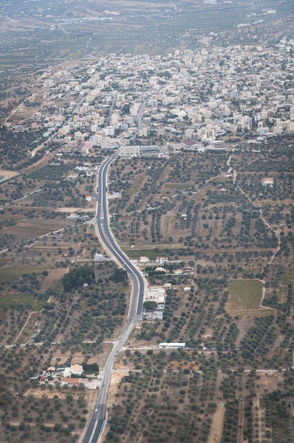Belle vue au-dessus de ville d'Athene photographie stock