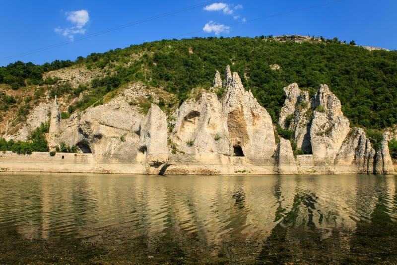 Belle vue au phénomène de roche photos stock