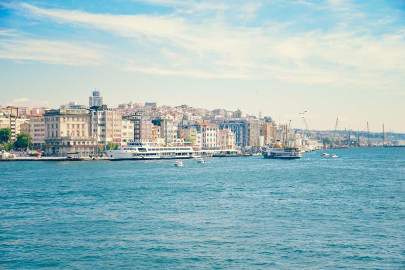 Belle vue d'Istanbul, paysage de ville image stock