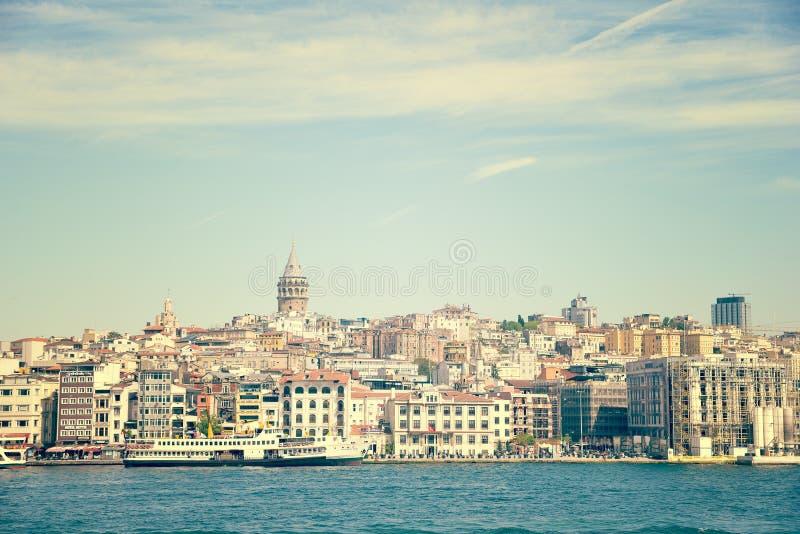 Belle vue d'Istanbul, paysage de ville photographie stock