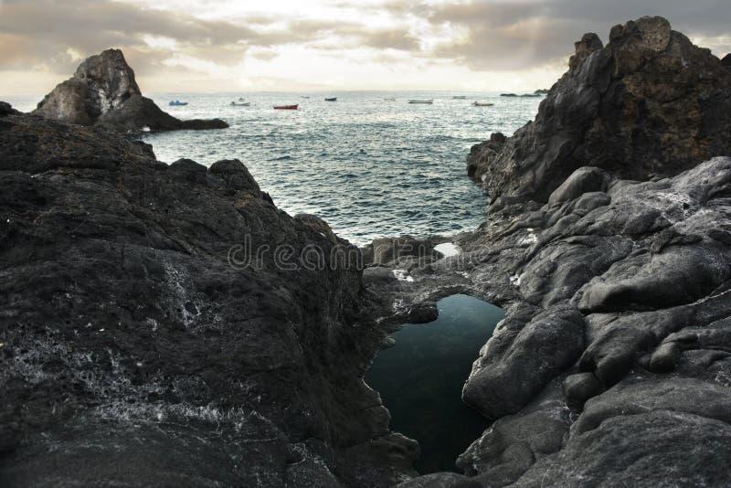 Belle vue d'océan photo libre de droits