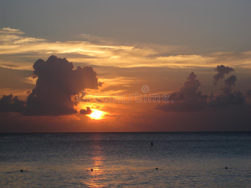 Belle vue d'océan photo stock