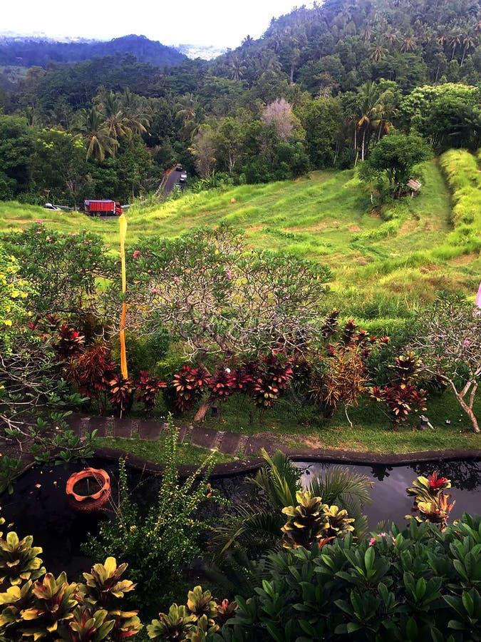 Belle vue dans Bali images libres de droits
