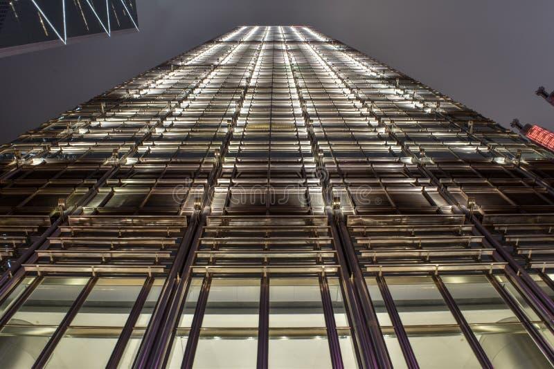 Belle vue de Cheung Kong Center photographie stock libre de droits