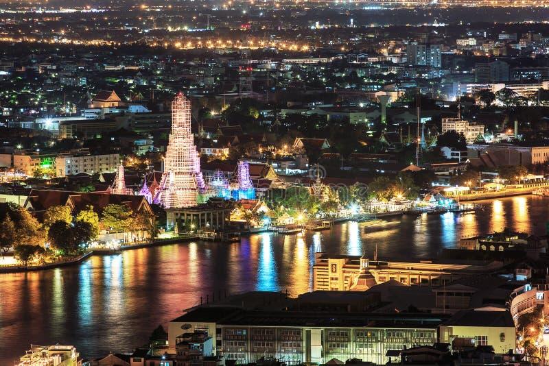 Belle vue de coucher du soleil, Thaïlande photos stock