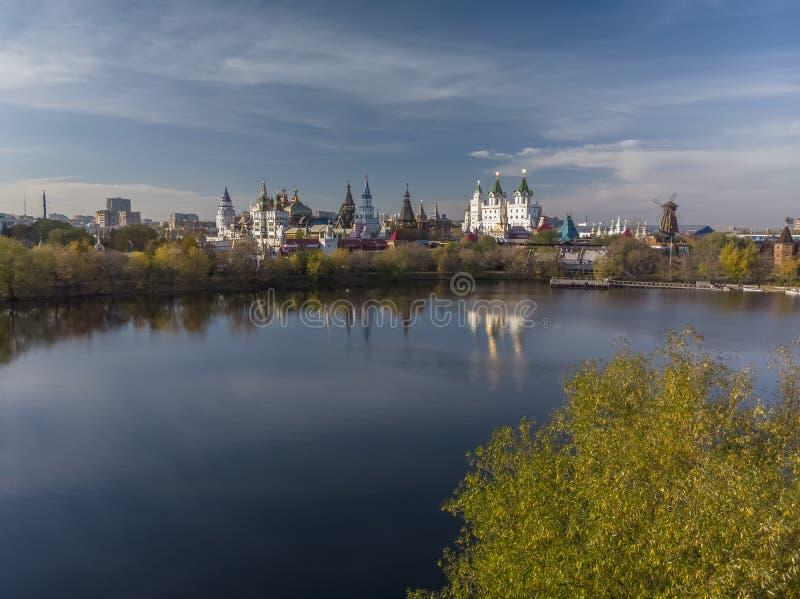 Belle vue de Kremlin dans Izmailovo à Moscou, Russie images libres de droits