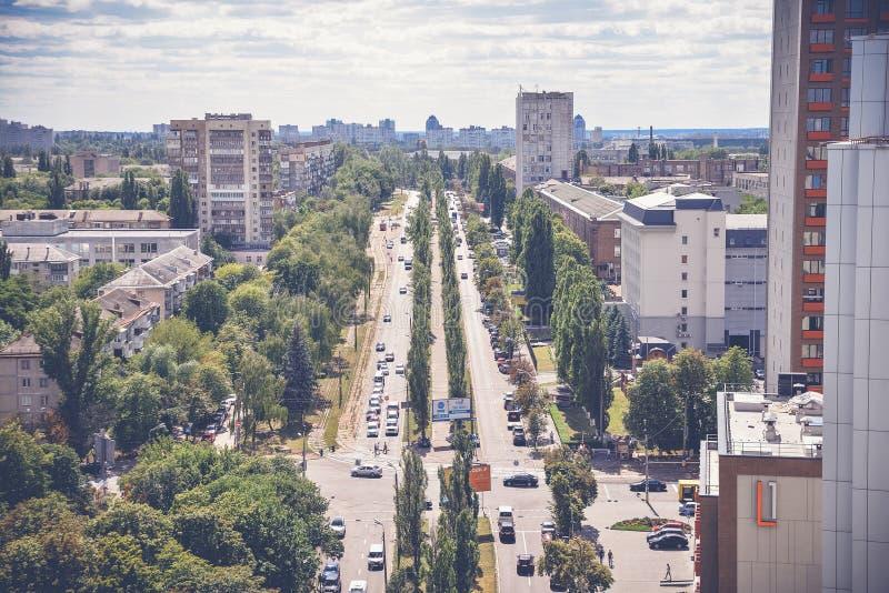 Belle vue de la capitale de l'Ukraine photographie stock libre de droits