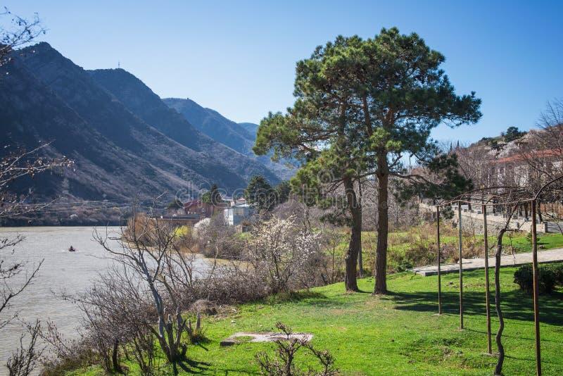 Belle vue de la rivière photographie stock libre de droits
