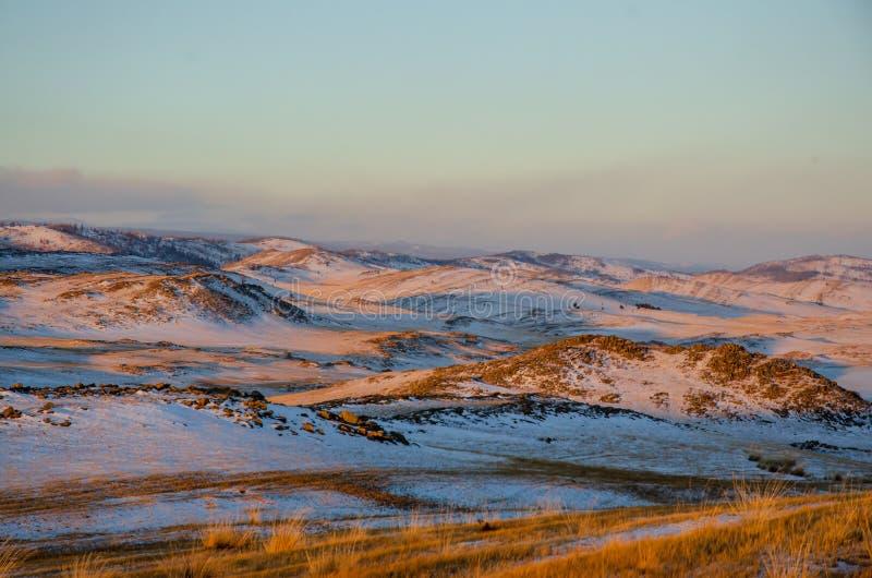 Belle vue de la steppe image stock