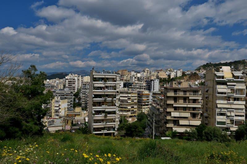 Belle vue de la taille de la ville en Gr?ce photo libre de droits