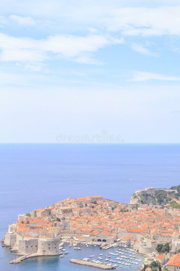 Belle vue de la ville antique de Dubrovnik, Croatie images libres de droits