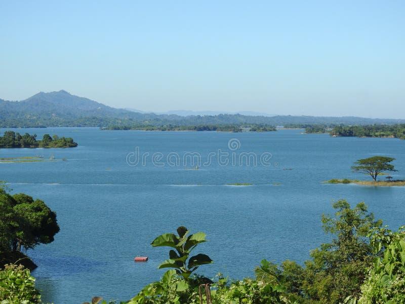 Belle vue de lac Kaptai, Chitagong image stock