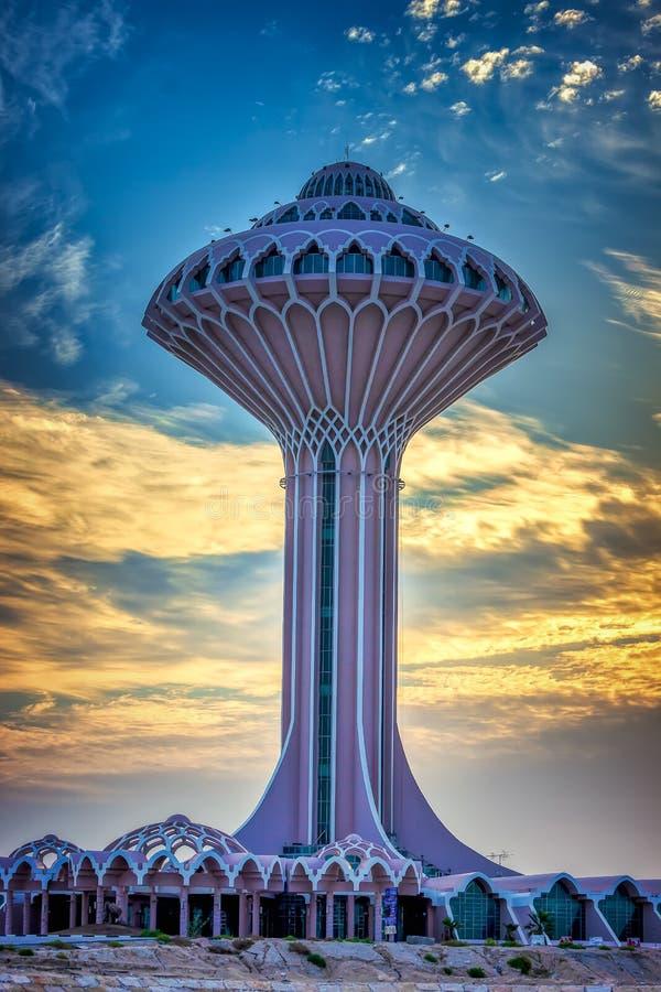 Belle vue de lever de soleil chez Dammam Al Khobar Corniche Saudi Arabia image libre de droits