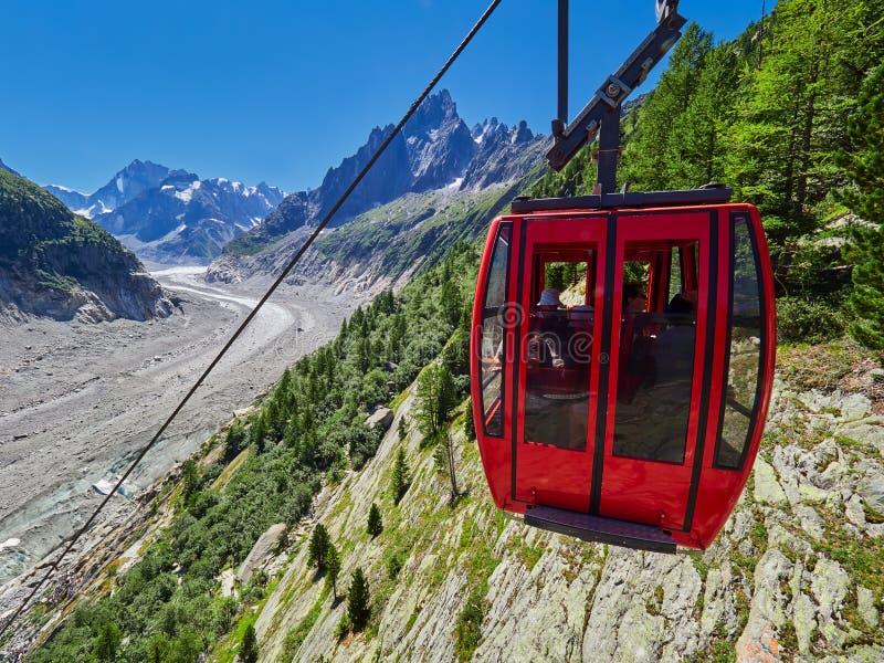 Belle vue de Mer De Glace Glacier - Mont Blanc Massif, Chamonix, France image libre de droits