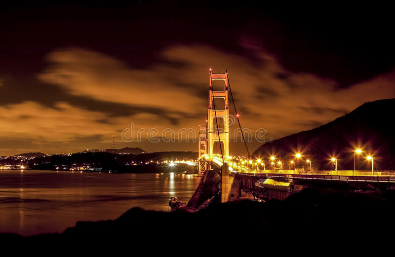 Belle vue de nuit de San Francisco, Etats-Unis photos libres de droits