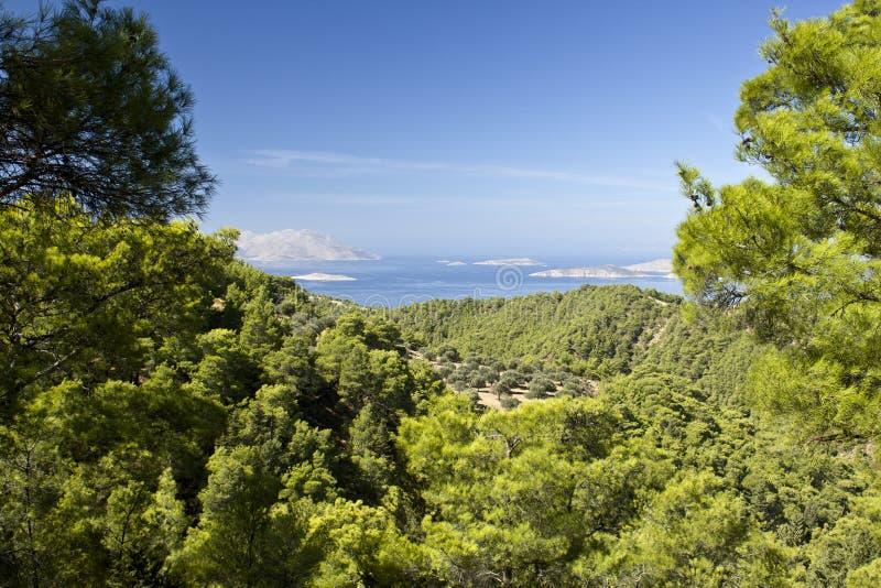 Belle vue de Rhodes images libres de droits