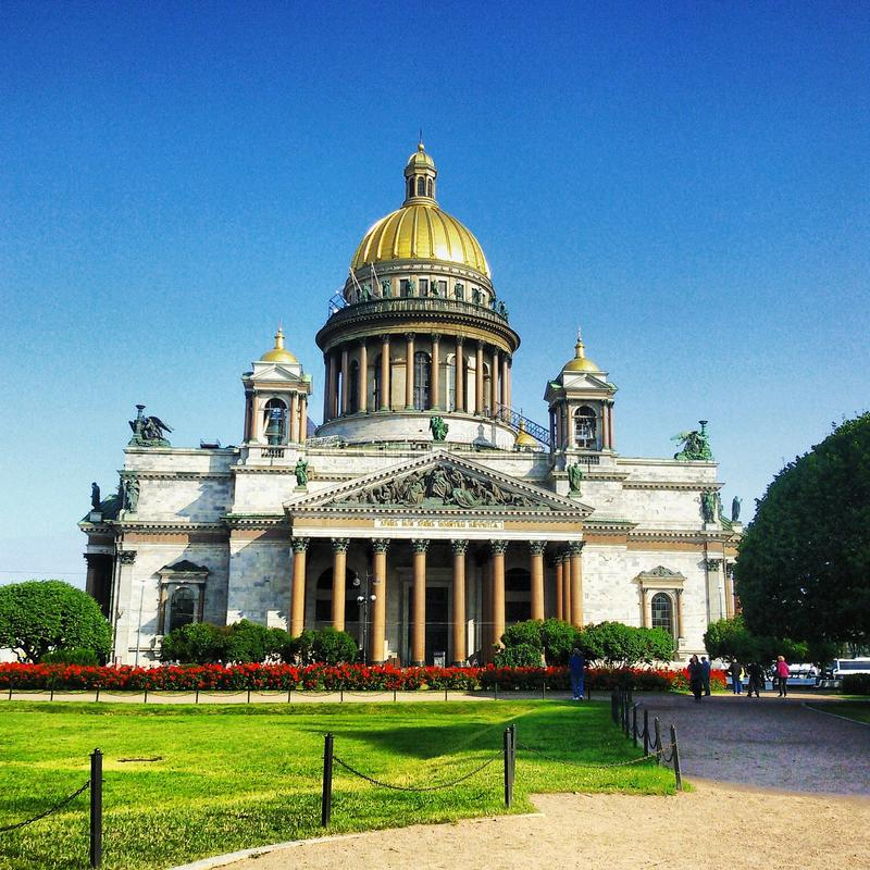 belle vue de saint d'Isaac de cathédrale image libre de droits