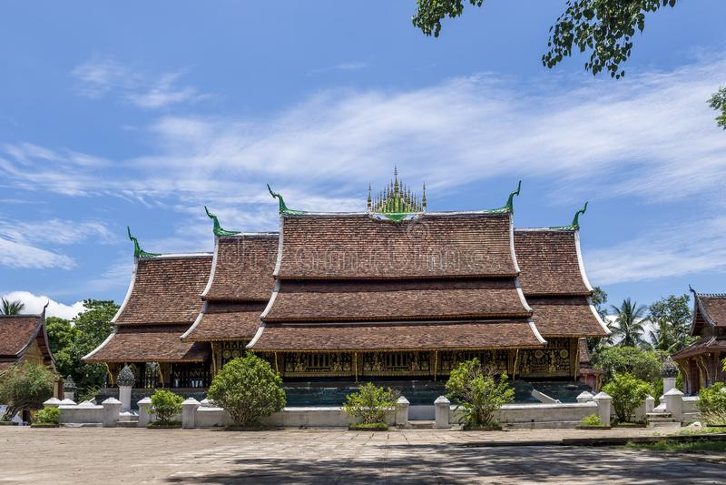 Belle vue de Wat Xieng Thong célèbre, Luang Prabang, Laos, Asie images libres de droits