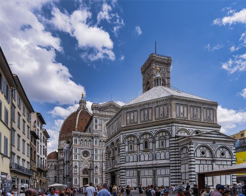 Belle vue du dôme de Piazza Del Duomo à Florence, Italie, photographie stock