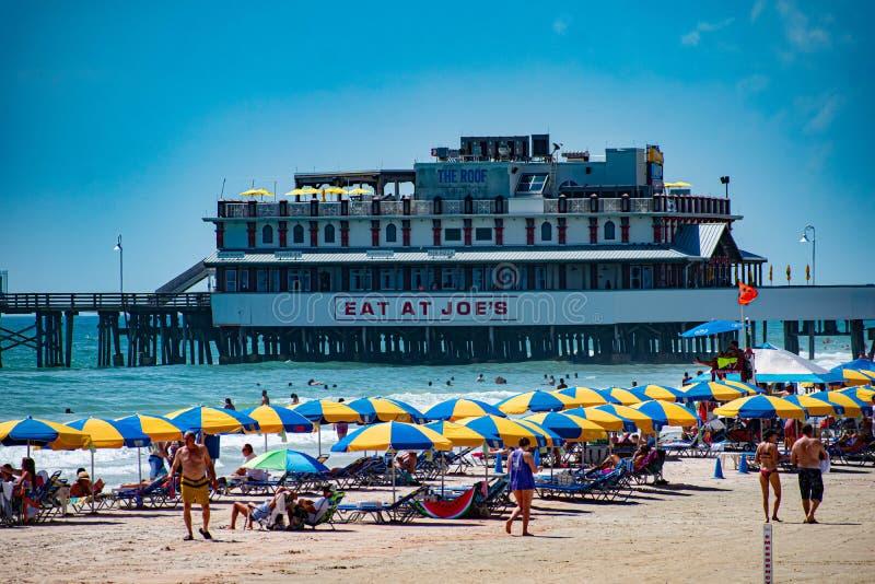Belle vue du pilier 1 de Daytona Beach Main Street images stock