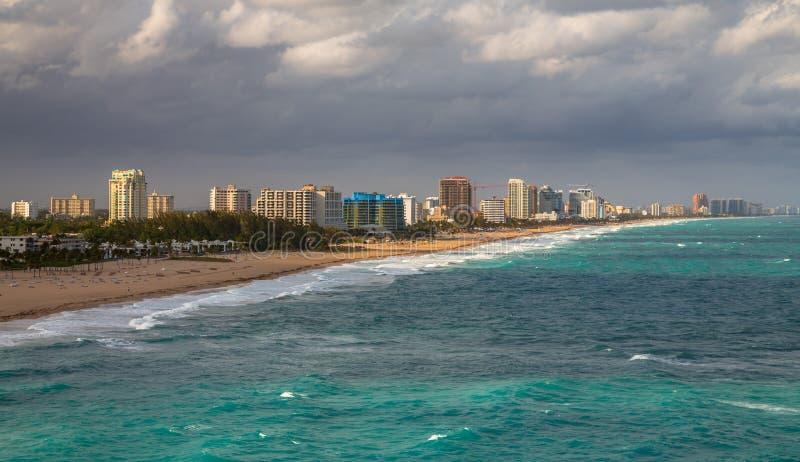 Belle vue du port et du pilier de Fort Lauderdale photo stock