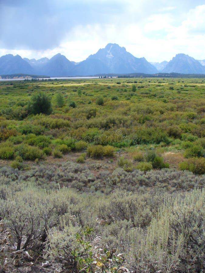 Belle vue du Teton grand aux Etats-Unis photo libre de droits