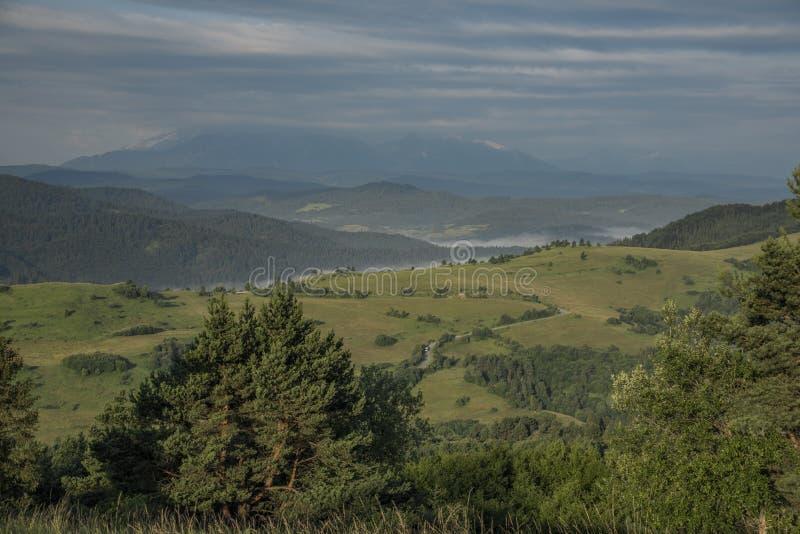 Belle vue en parc national de Pieniny photo libre de droits