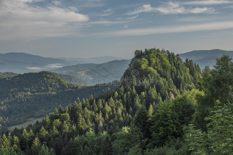 Belle vue en parc national de Pieniny photographie stock