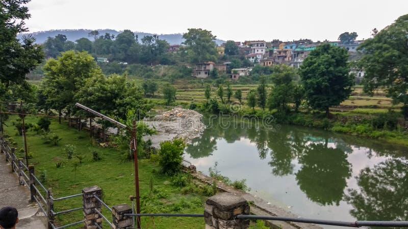 Belle vue naturelle dans Uttarakhand photo libre de droits