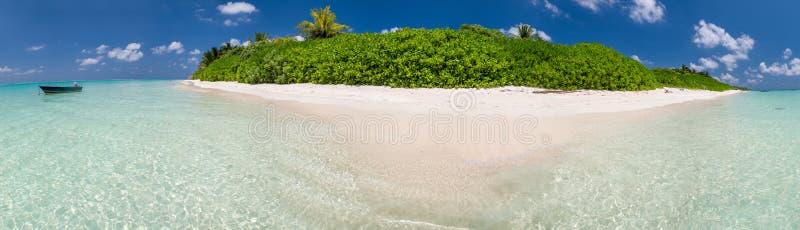 Belle vue panoramique d'île Maldive photo stock