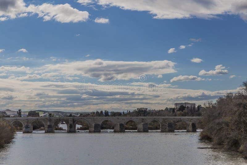 Belle vue panoramique de la rivière du Guadalquivir photo stock
