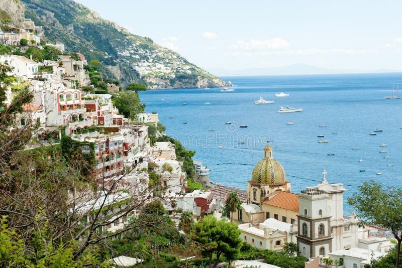 Belle vue panoramique du Positano coloré dans la côte d'Amalfi, Italie photo libre de droits