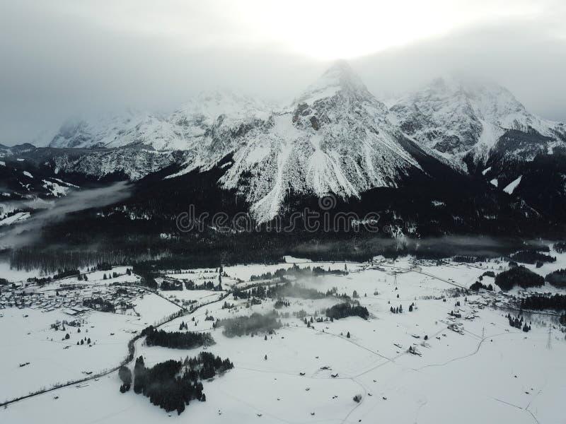 Belle vue près de Lermoos, Autriche photographie stock
