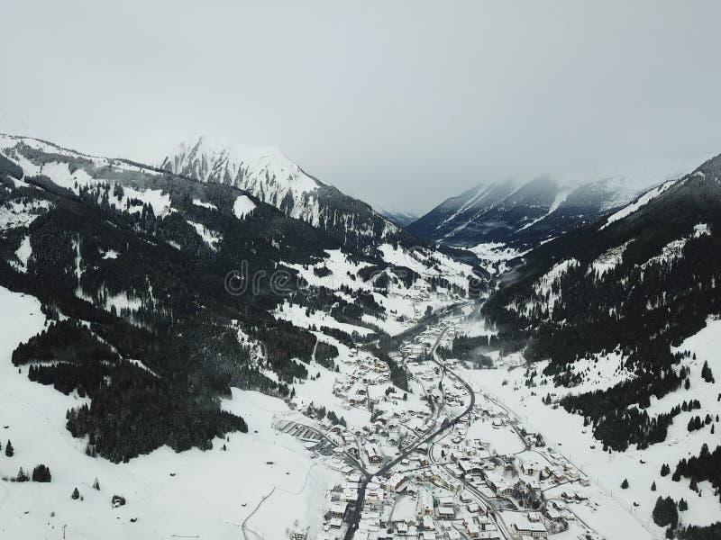Belle vue près de Lermoos, Autriche photos stock
